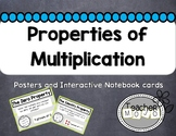 Chevron Theme Properties of Multiplication Poster & Flip-Book Set