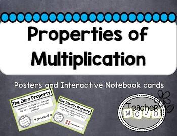 Chevron Theme Properties of Multiplication Poster & Flip-Book Set