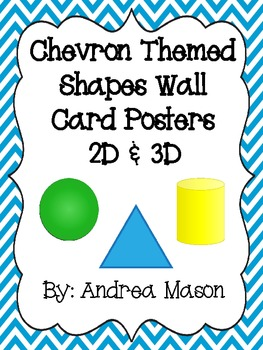 Chevron Theme Shapes Wall Card Posters - 2D and 3D