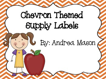 Chevron Theme Supply Labels