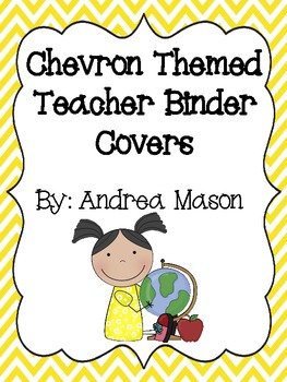 Chevron Theme Teacher Binder Covers