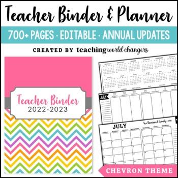 Chevron Teacher Binder