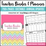 Chevron Teacher Binder and Planner