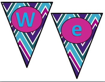 "Chevron ""Welcome"" Pennant"