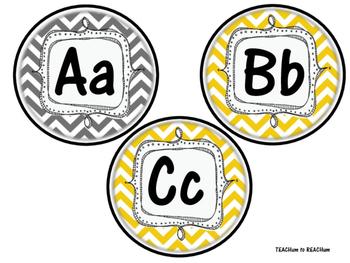 Chevron Theme - Word Wall Alphabet