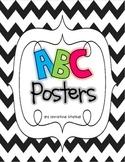 Chevron Themed ABC Posters