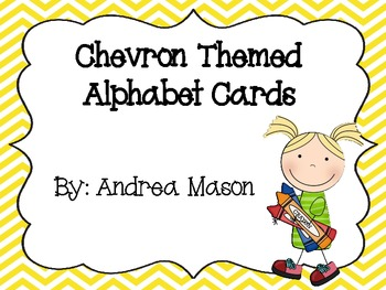Chevron Themed Alphabet Cards