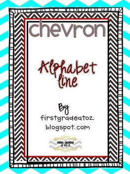 Chevron Themed Alphabet Line
