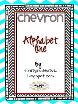 Chevron Themed Alphabet Line