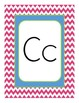 Chevron Themed Alphabet Manuscript Primary Pink Lime Green