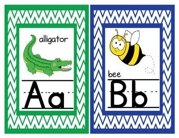 Chevron Themed Alphabet Posters