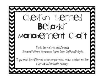 Chevron Themed Behavior Management Chart