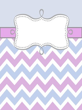 Chevron Themed Binder Covers