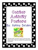 Chevron Themed Center Activity Posters