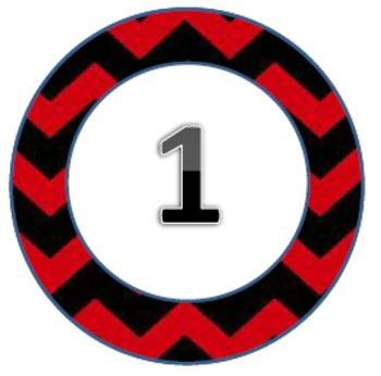 Chevron Themed Circles Pack2 1-31