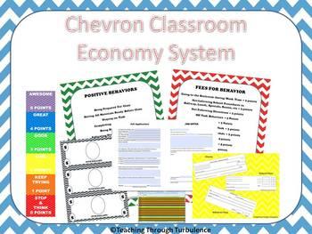 Chevron Themed Classroom Economy System