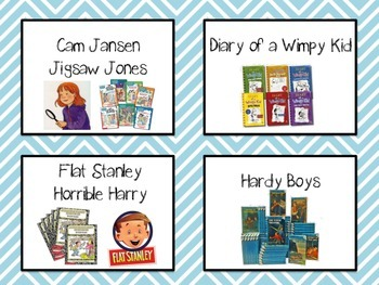 Chevron Themed Classroom Library Labels