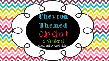 Chevron Themed Clip Chart