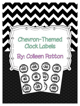 Chevron Themed Clock Labels