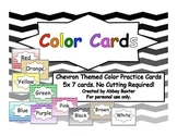 Chevron Themed Color Sight Words Cards