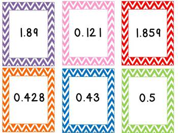 Chevron Themed Common Core Math Centers: 5th Grade Numbers and Operations
