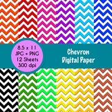 Chevron Themed Digital Paper