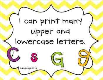 "Chevron Themed ""I Can"" Common Core Posters {Kindergarten}"