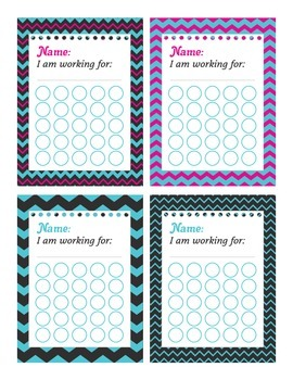 Chevron Themed Incentive Charts