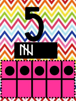 Chevron Themed Number 1-10 with 10 Frames & Tally Marks