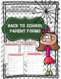 Back to School Forms for Parents (Chevron)