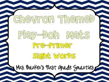 Chevron Themed Pre-Primer Sight Word Play-Doh Mats