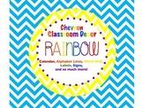 Chevron RAINBOW Classroom Decor 197 pages