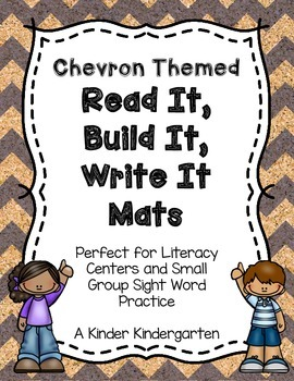 Chevron Themed Read It, Build It, Write It Mats