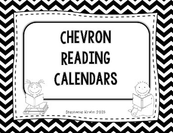 Chevron Themed Reading Calendar