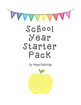 Chevron-Themed School Year Starter Pack (3rd Grade)