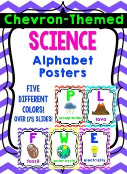 Chevron-Themed Science Alphabet Posters