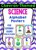 Chevron-Themed Science Alphabet Posters