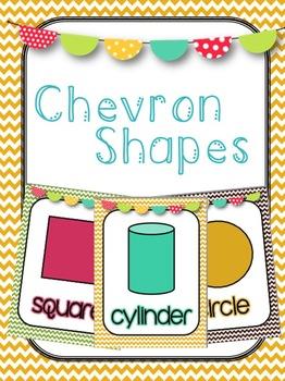 Chevron Themed Shape Posters