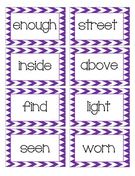 Chevron-Themed Sight Words (Fountas and Pinnell 200 word list)
