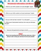 Chevron Themed Student Information Sheet