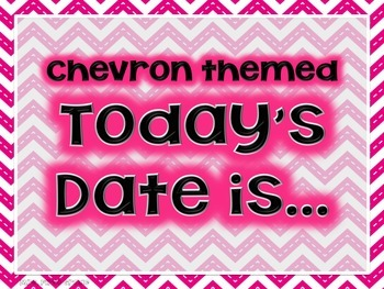 "FREE Chevron Themed ""Today is..."" Poster Set"