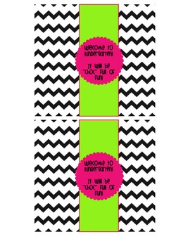 """Chevron Themed """"Welcome to ____ Grade"""" Candy Bar Wrappers"""