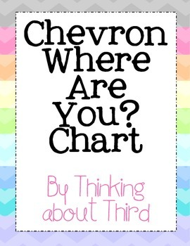 Chevron Themed Where Are You Chart