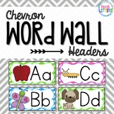 Chevron Word Wall Headers {with pictures}