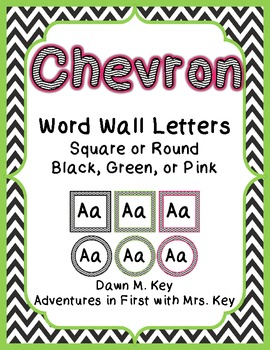 Chevron Themed Word Wall Letters