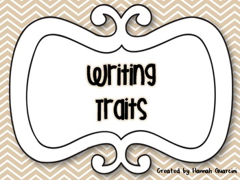 {Chevron Themed} Writing Traits Posters