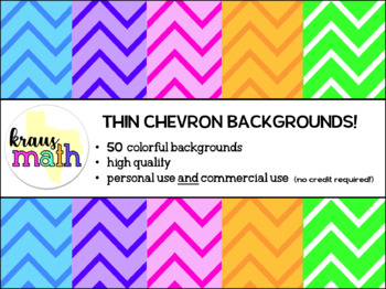 Chevron (Thin) Backgrounds/ Digital Paper Pack! (Personal & Commercial Use)