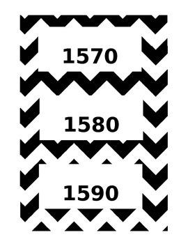 Chevron Timeline Cards