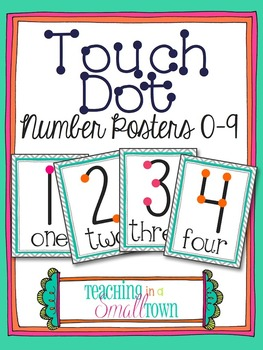 Chevron Touch Dot Number Posters
