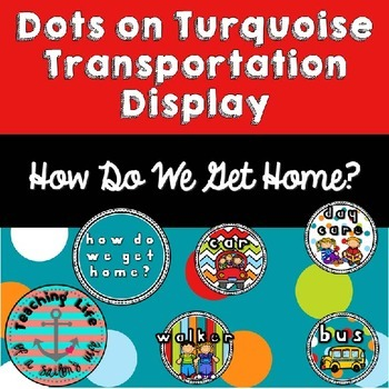 Dots on Turquoise Transportation Cards - How Do We Get Home?